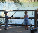 Kids Fishing, Little Boy and Girl Fishing From A Dock, Share Your Pictures and Stories