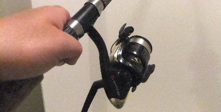 Spooling the fishing line onto the reel