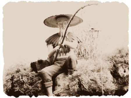 Ancient Fishing from the old days with a Bamboo Cane Pole