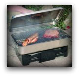 Smoking Fish in a smoker, also for meat