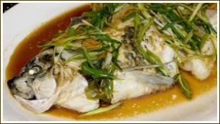 steaming fish, steamed fish, whole cooked fish
