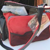 Tackle Bag with Bait and Lure Storage Boxes