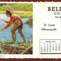 Vintage Fishing Calendars