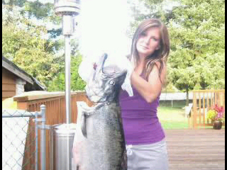 Fraser River 42 Pound King Salmon