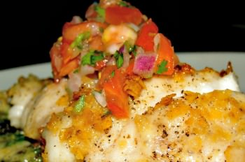 citrus herb baked bass