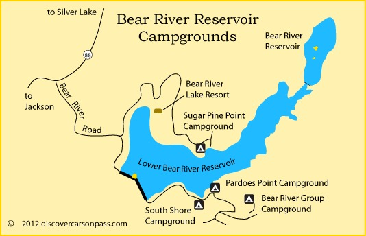 Map of Bear River Campgrounds