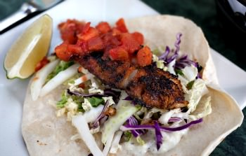 Blackened Striped Bass Fillets Tacos