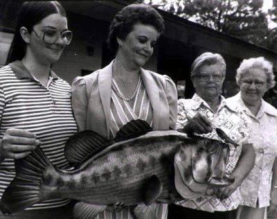replica of George Perry's world record largemouth bass