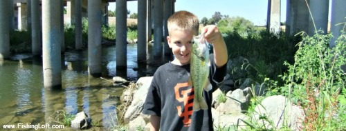 My youngest son and his largemouth bass