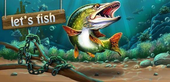 Let's Fish free online fishing game.