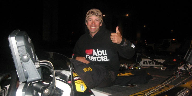 Mike Iaconelli Abu Garcia Hoody Sweater at Night
