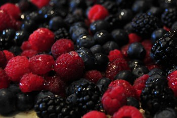 mixed wild berry medley for a fish sauce