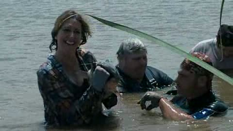 Female client with her catfish