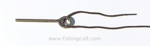 Step 1 for tying the Palomar Knot - Pass the line through the eye of the hook or swivel.