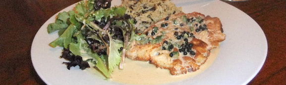 Pan Fried Tilapia with Peppercorn-Jalepeño Sauce