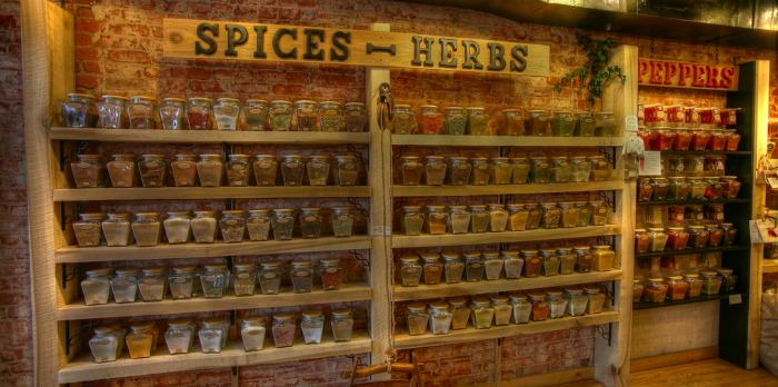 spices and herbs for marinating seafood