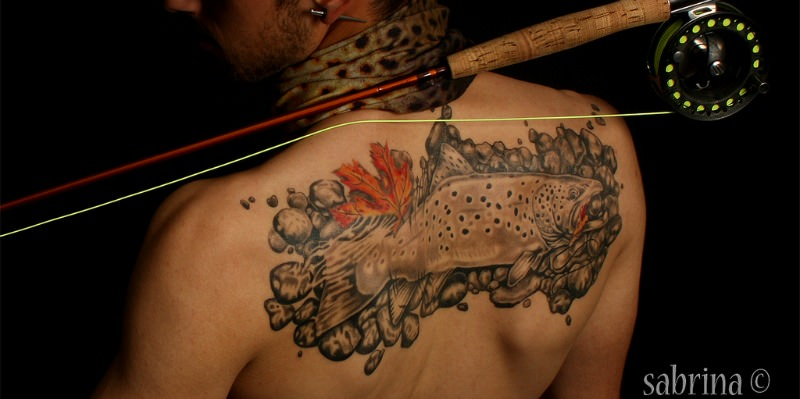 Trout Tattoo Backpiece
