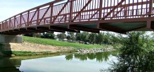 Wortley Lake Bridge at Micke Grove Park in Lodi, California
