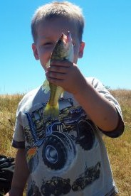 bass fishing pictures, boy with largemouth bass at the pond