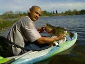 My bro and his catch of the day from our trip out on the kayaks