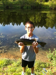Largemouth Bass Caught from a Small Pond in Arkansas
