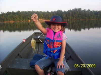 Proud little girl!!!... with her bluegill