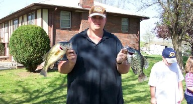 Largemouth Bass and a Crappie