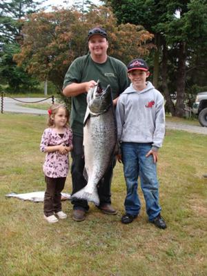 44 pounds and 12 ounces King Salmon