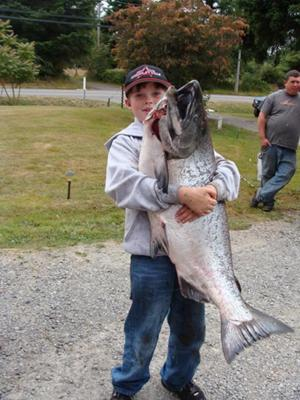 Garret and his giant King Salmon