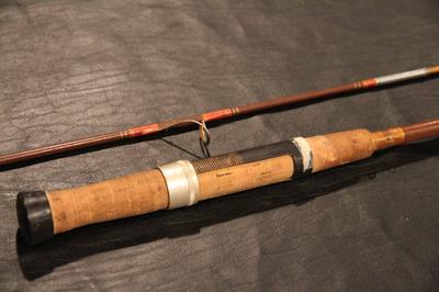 Jorgensen cork handle with metal reel seat.