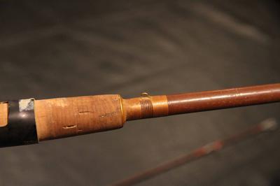 Jorgensen cork handle grip with brass or copper trim.