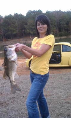 Largemouth Bass caught out of my backyard pond