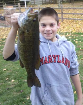 Noah Trimble, 11 yrs - 5.5 lb Smallmouth Bass