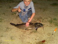 My Son's Biggest Catfish - 9 pounds, 27 inches
