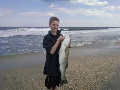 Ben's Striped Bass from Monmouth shores of New Jersey