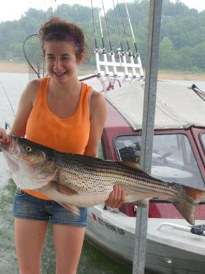 My First Striped Bass Weighing In At 16 Pounds