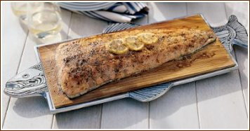 Grilling Planked Fish, Grilled Cooking Freshwater Fish