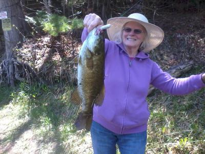 Mom's Smallie on a 3