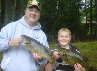 Big Smallmouth Bass - Fall 2011 - Harshaw, Wisconsin