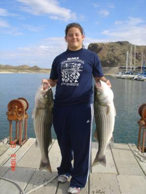 A Couple of Striped Bass We Battled It Out With