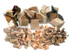wood chips and chunks for smoking fish meat or food