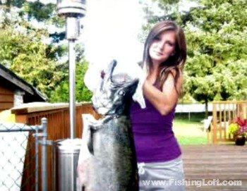 42 Pound King Salmon From Fraser River