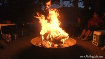 Raging Campfire at Bear River