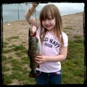 Little Girl Callista Posing with her Trout