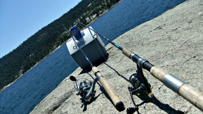 Drinking Beer and Fishing at Bear River Reservoir