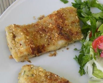 herb crusted lake perch fillets