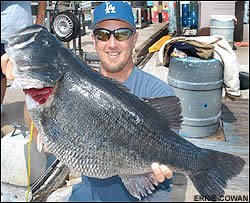 Jed Dickerson with Dottie famous world record largemouth bass fish
