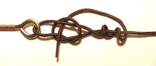Tying the Improved Fisherman's Knot for The Rapala Loop Knot