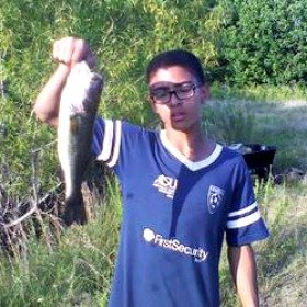 Largemouth Bass Caught from a Small Pond