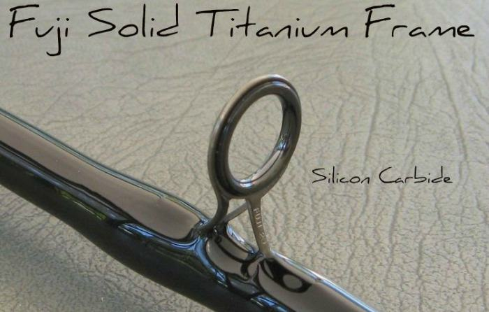 solid fuji titanium fishing rod frame